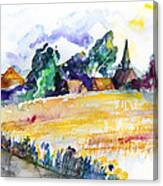 Nossentin From The West Canvas Print