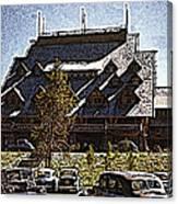 Nostalgia Old Faithful Inn By Cathy Anderson Canvas Print