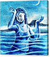 Not Waving But Drowning Canvas Print