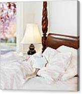 Note On The Pillow Canvas Print