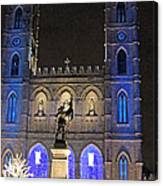 Notre-dame Basilica Of Montreal Canvas Print