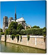 Notre Dame Cathedral And The Seine Canvas Print