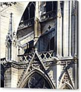 Notre Dame Cathedral Architectural Details Canvas Print