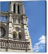 Notre Dame Cathedral Paris Tower Canvas Print