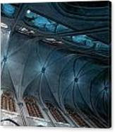 Notre Dame Ceiling North In Teal Canvas Print