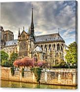 Notre Dame De Paris Cathedral Canvas Print
