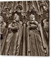 Notre Dame Facade Detail Canvas Print
