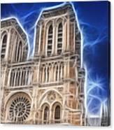 Notre Dame Fractal Canvas Print