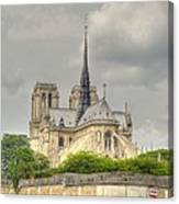 Notre Dame From The Seine Canvas Print