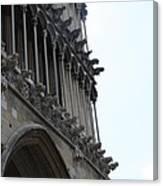 Notre Dame Gargoyle Row - Dijon Canvas Print