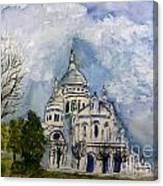 Sacre Coeur In Paris Canvas Print