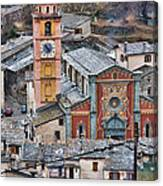 Notre Dame In Tende Canvas Print