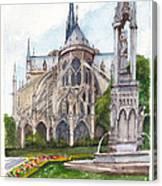 Notre Dame Paris In Spring Canvas Print