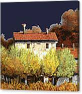 Notte In Campagna Canvas Print