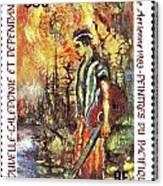 Nouvelle Caledonie Island Stamp Canvas Print