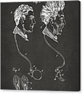 Novelty Wig Patent Artwork Gray Canvas Print