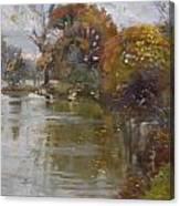 November 4th At Hyde Park Canvas Print