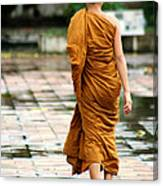 Novice Monk Of Chedi Luang Canvas Print