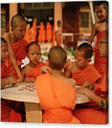 Novice Monks Canvas Print
