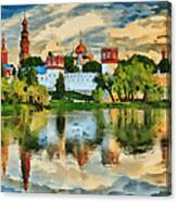 Novodevichy Monastery In Moscow Canvas Print