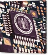 Nsa Computer Chip Canvas Print