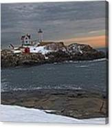 Nubble Light Christmas Canvas Print