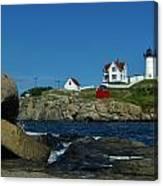 Nubble Light House York Beach Maine Canvas Print