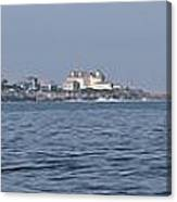 Nubble Lighthouse From Long Sands Beach Panorama Canvas Print
