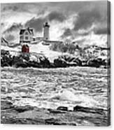 Nubble Lighthouse After The Storm Canvas Print