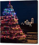 Nubble Lighthouse And Lobster Pot Tree Canvas Print