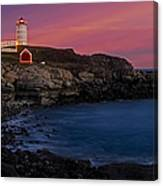 Nubble Lighthouse At Sunset Canvas Print