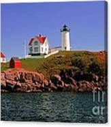 Nubble Lighthouse-cape Neddick Canvas Print