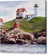 Nubble Lighthouse In Pastel Canvas Print