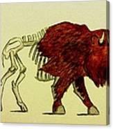 Nuclear Buffalo Canvas Print
