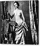 Nude And Curtains, C1850 Canvas Print