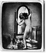Nude And Mirror, C1850 Canvas Print