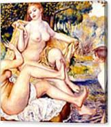 Nude Bathers Canvas Print