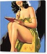 Nude Brunette II Canvas Print