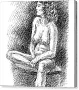 Nude Female Sketches 2 Canvas Print