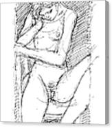Nude Female Sketches 4 Canvas Print