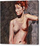 Nude French Woman Canvas Print