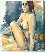 Nude II Canvas Print