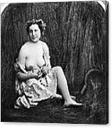 Nude In Field, C1850 Canvas Print