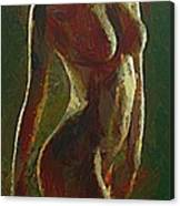Nude In The Green Canvas Print