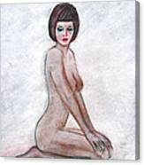 Nude In The White Room Canvas Print