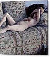 Nude On A Couch Canvas Print