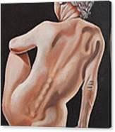 Nude On A Pedestal Canvas Print