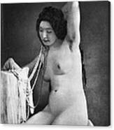 Nude Posing, C1850 Canvas Print