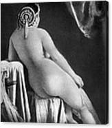 Nude Posing: Rear View Canvas Print