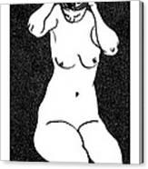 Nude Sketch 10 Canvas Print